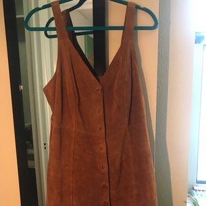 Free People Tan Suede Dress
